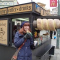 Trdelník stand Prague  Czech Republic