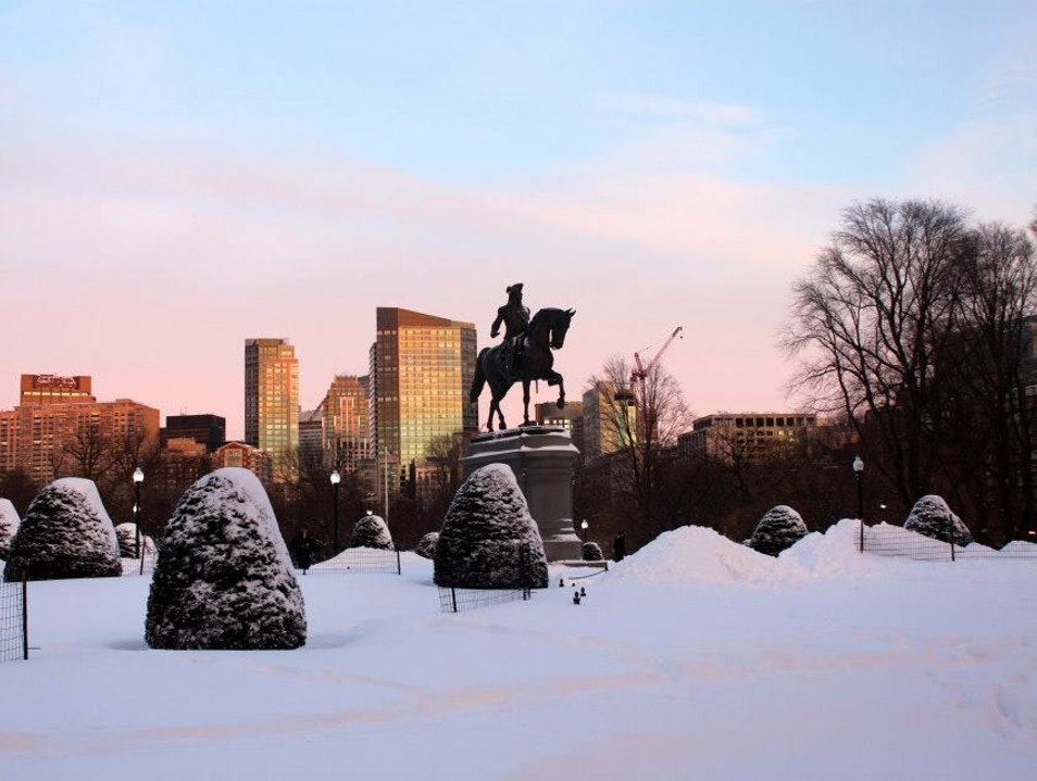 Boston Common During Nor'Easter Nemo Boston Massachusetts United States