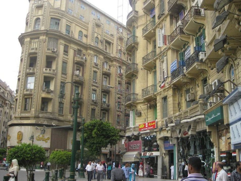 The Paris-esque streets of Cairo