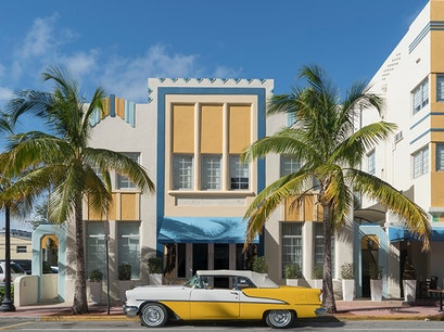 Art Deco Historic District Miami Beach Florida United States