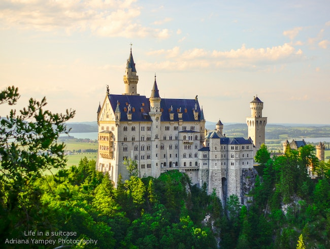 Evening at Neuschwanstein Castle