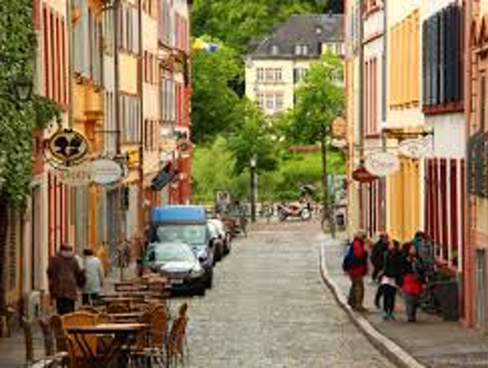 The Idyllic German Town Heidelberg  Germany