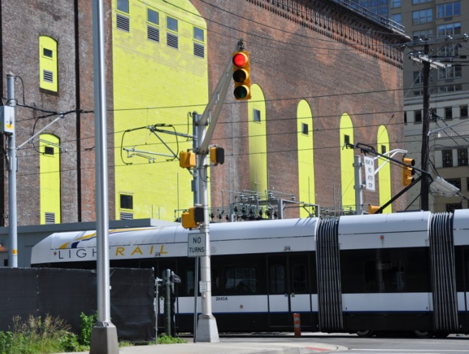 Getting around in Jersey City: the Hudson-Bergen Light Rail Jersey City New Jersey United States