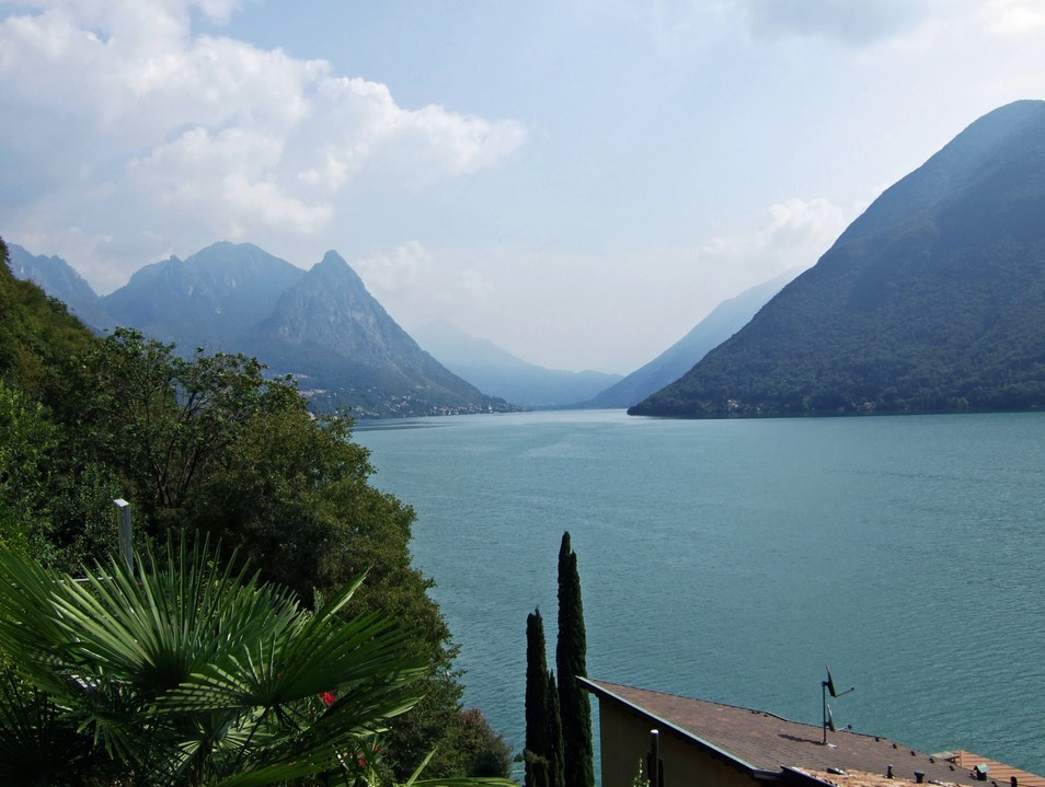 Lago di Lugano, Swiss and Italian Lugano  Switzerland