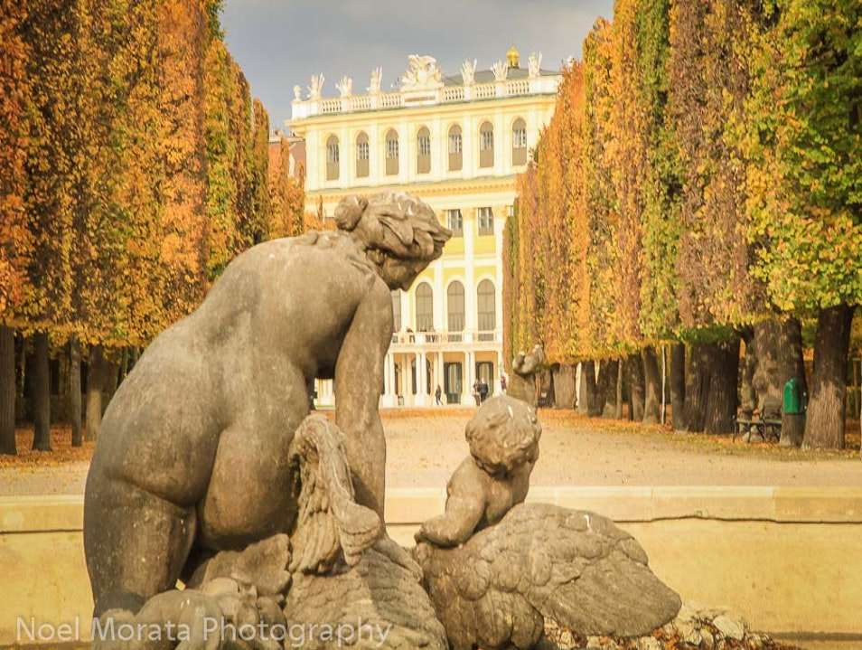 A fall garden tour at Schonbrunn Vienna  Austria