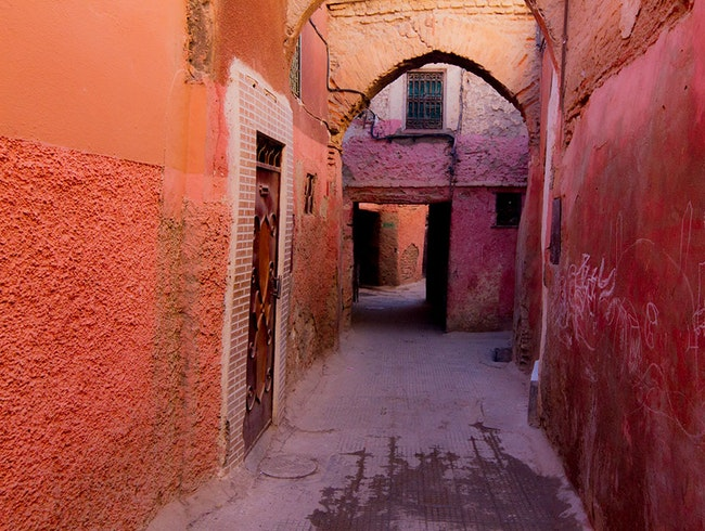 Red Sandstone Alleys of Marrakesh