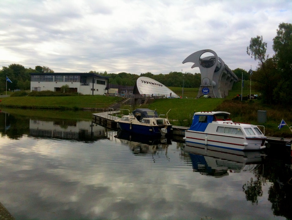 Take a ride in the rotating boat lift!