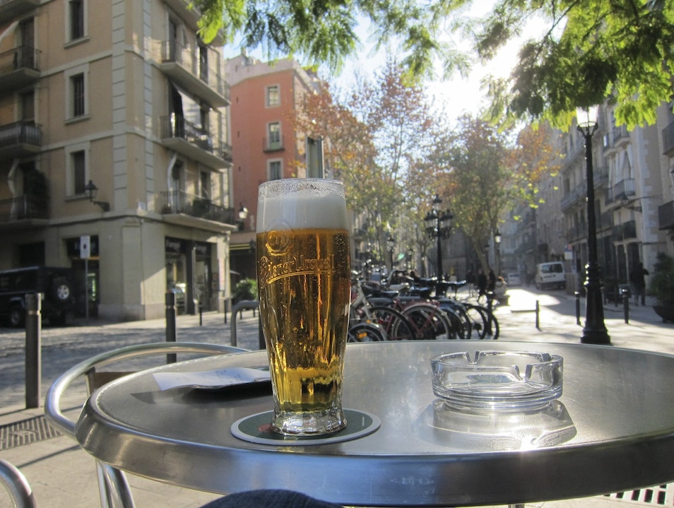 The perfect chilly afternoon nip, in one of Barcelona's coolest neighborhoods