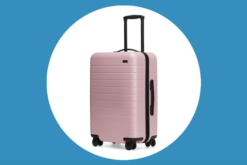 "The Bigger Carry-On in ""Blush,"" seen here, is marked down 30 percent."