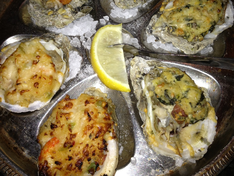 Oysters in the French quarter New Orleans Louisiana United States