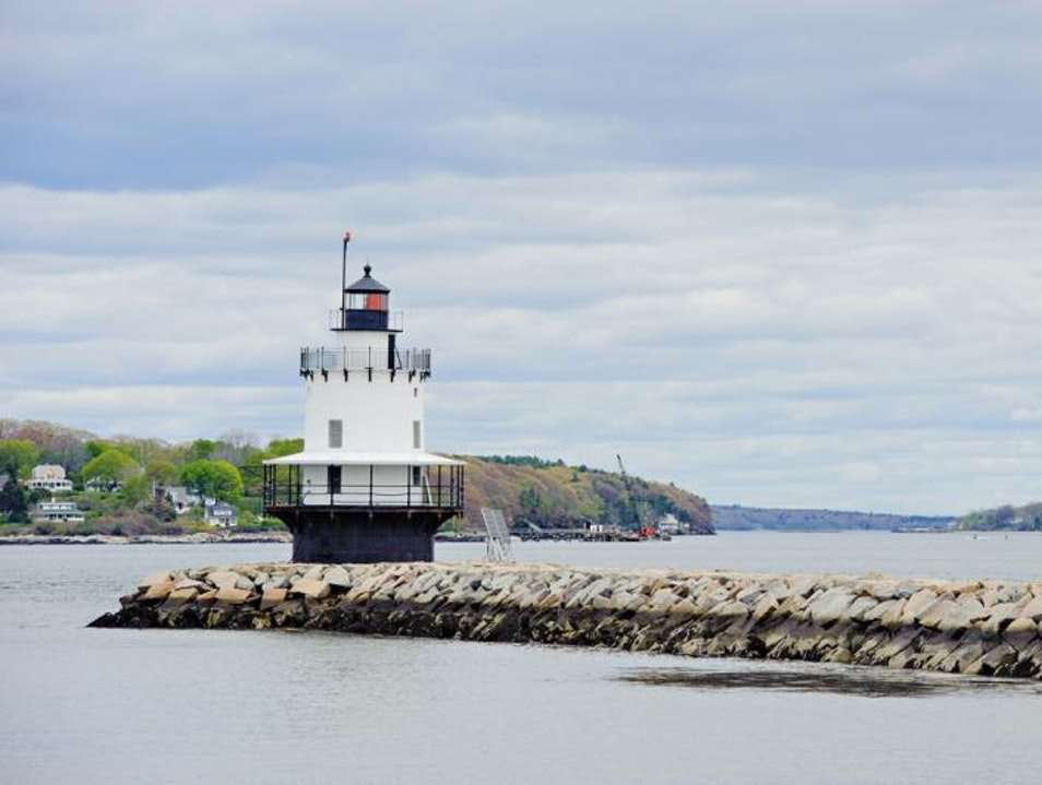 Enjoy the View at Spring Point Ledge Lighthouse South Portland Maine United States