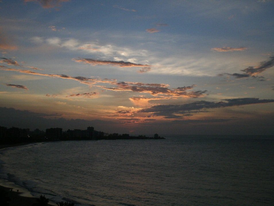 Lovely sunset San Juan  Puerto Rico