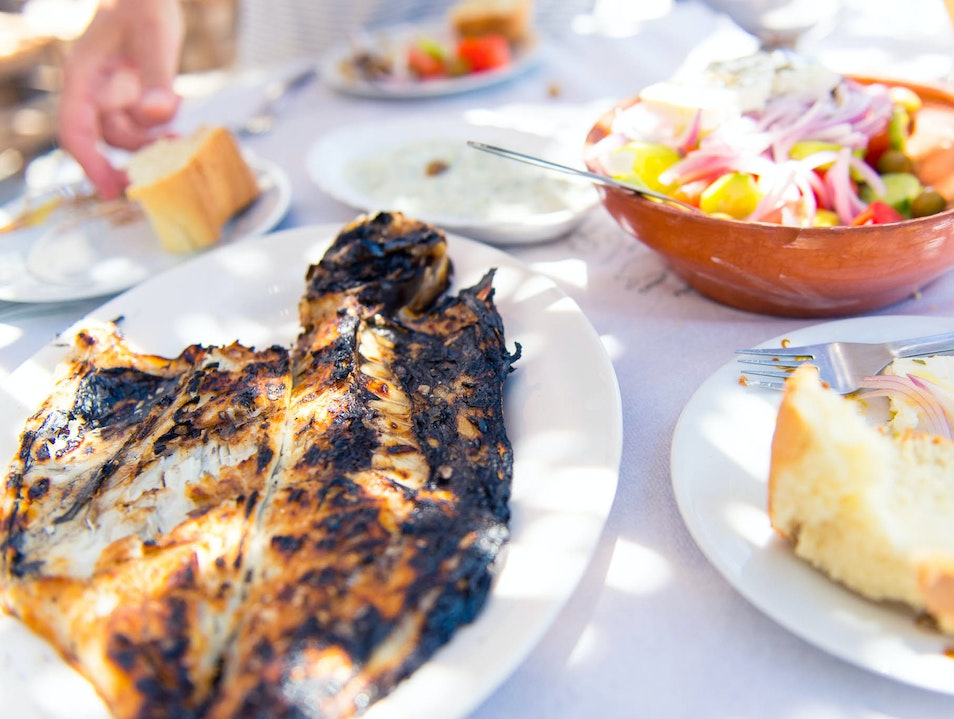 Slip Down a Side Street for Some Serious Seafood in Pserimos Zipari  Greece