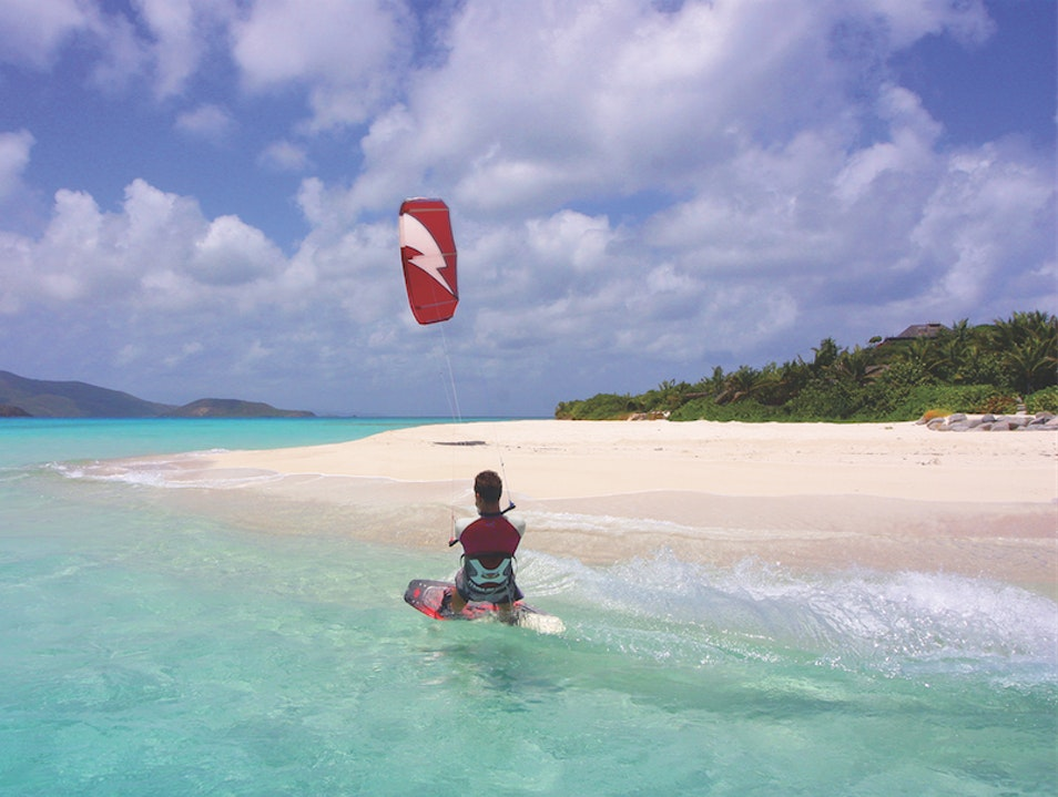 Go Kiteboarding at Pomato Point Anegada  British Virgin Islands