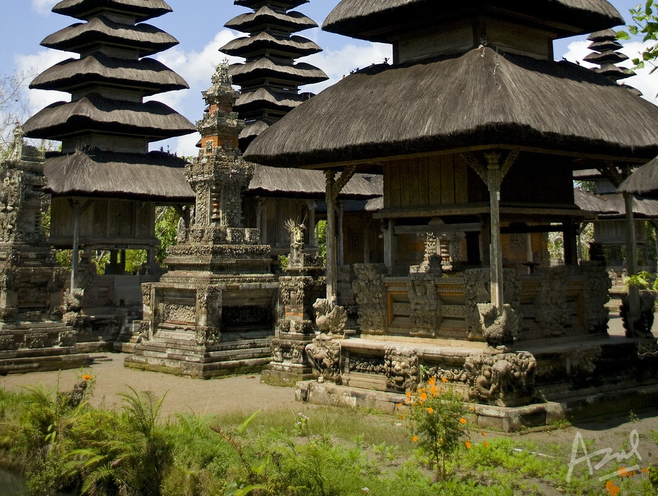 Multi-tiered Roofs of Bali Mengwi  Indonesia