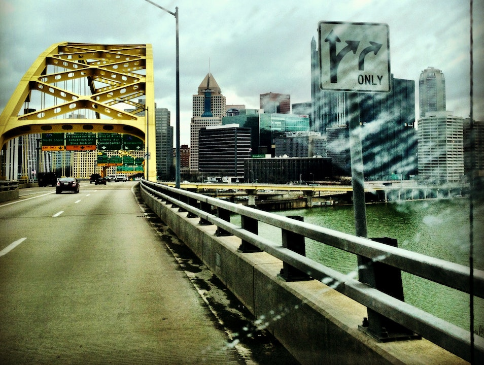 Ice on the Bridge Pittsburgh Pennsylvania United States