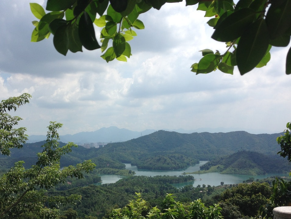 Drinking in the View from Gaobang Mountain