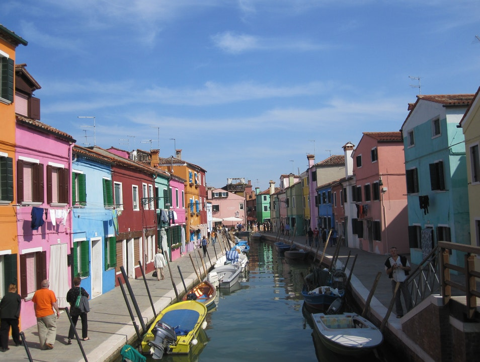 A Rainbow of Homes Venice  Italy