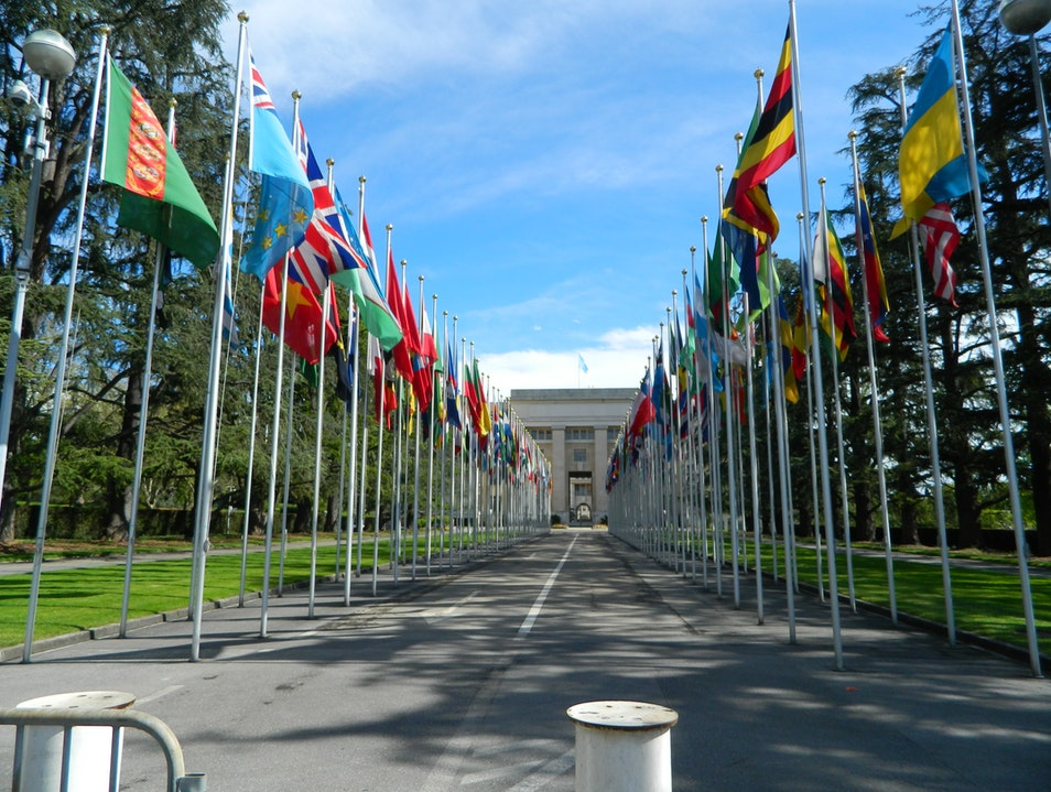 Visiting the United Nations Building Genève  Switzerland
