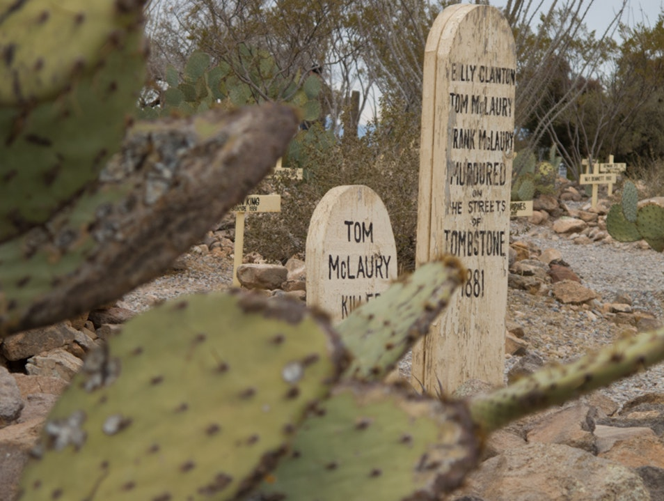 In Boothill Graveyard there are famous outlaws wherever you turn! Tombstone Arizona United States
