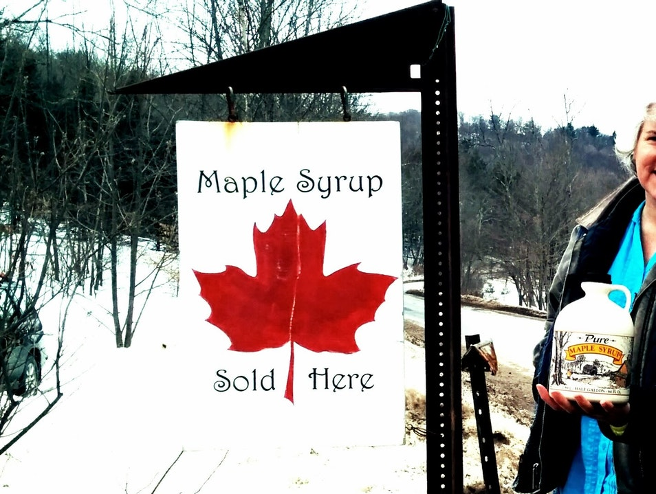 Maply Syrup after Winter Camping in the Catskills? Heaven.