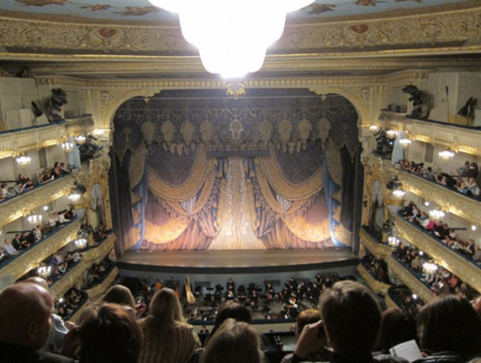 Swan Lake at the Mariinksy Theater St. Petersburg  Russia