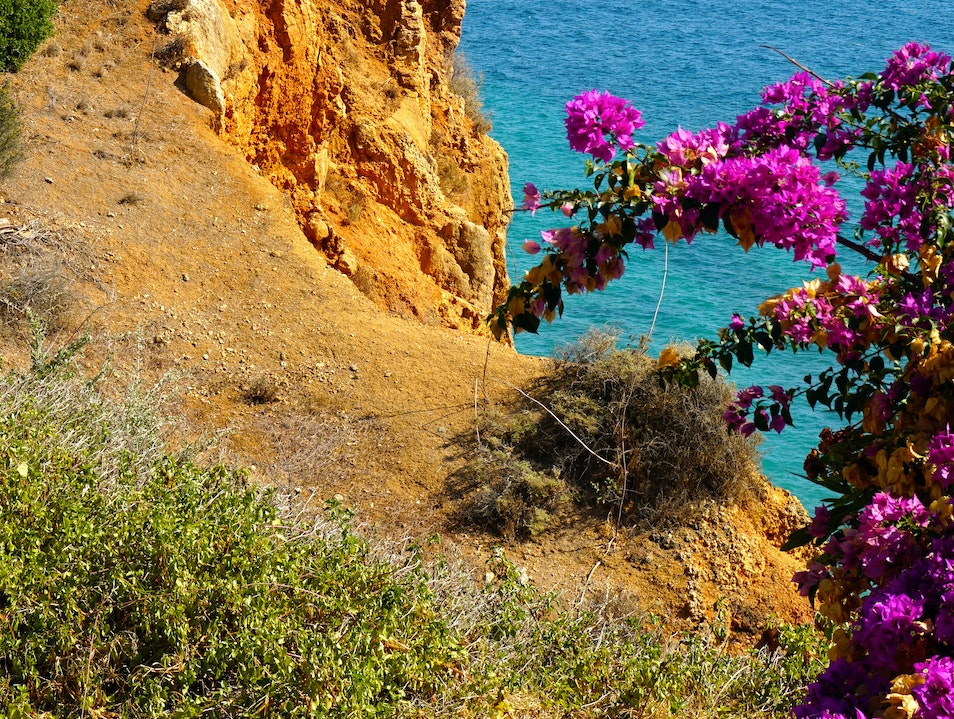 The Sheer Cliffs of the Algarve in Portugal Lagos  Portugal