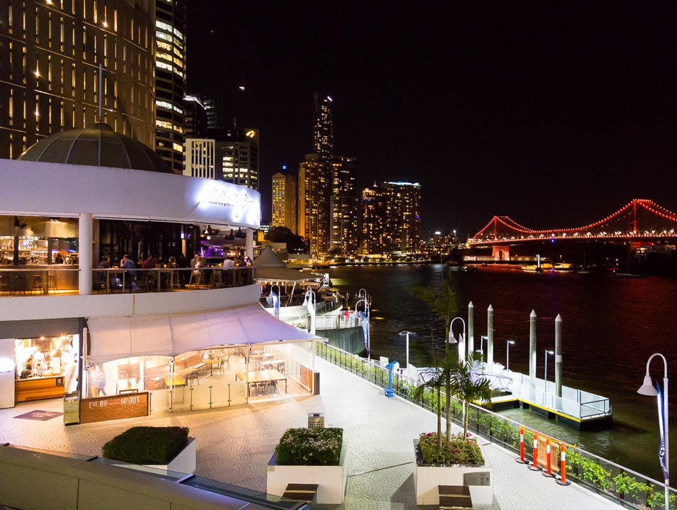 Great dining in Brisbane with a beautiful view.  Brisbane City  Australia