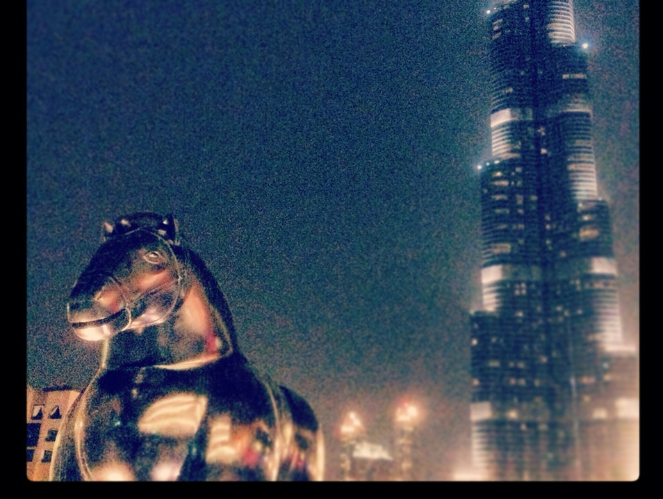 Botero & The Burj Dubai  United Arab Emirates