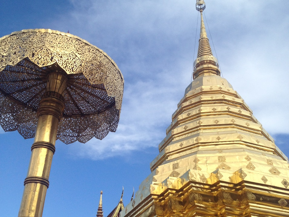 Explore the Golden Temple Su Thep  Thailand