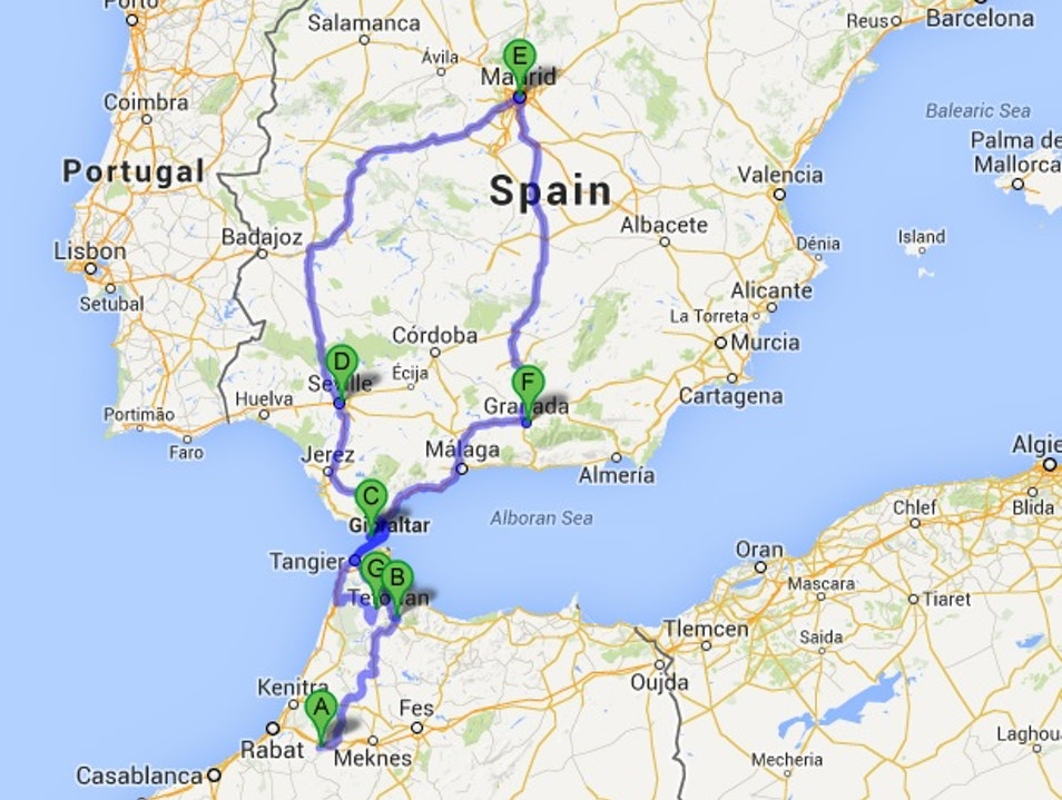 Road Trip Spain and Morocco