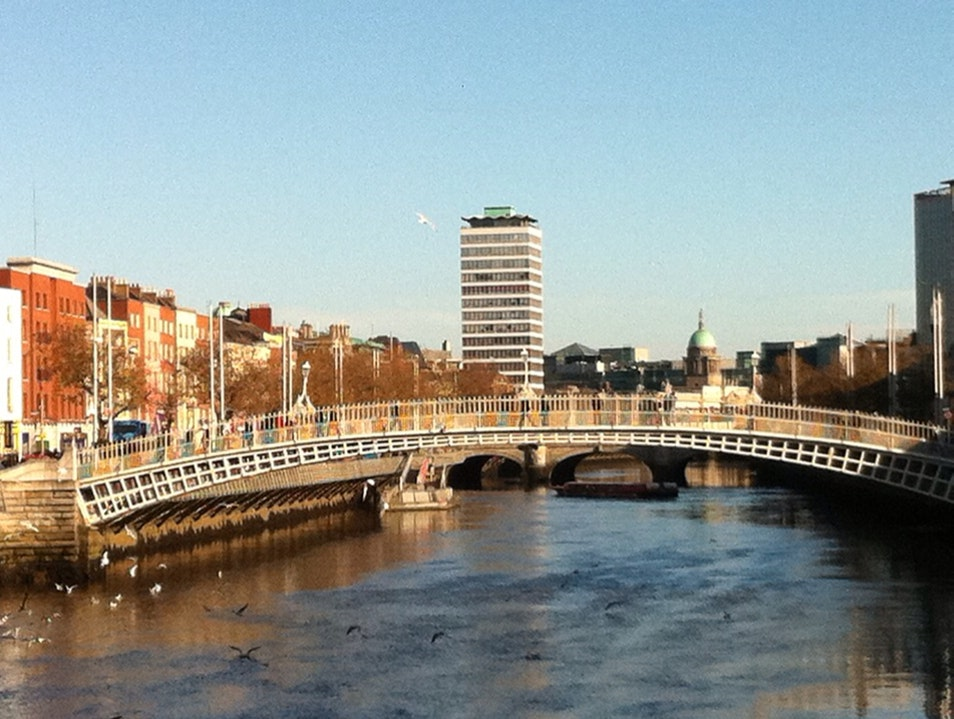 Rare Sunny Afternoon By Ha'Penny Bridge