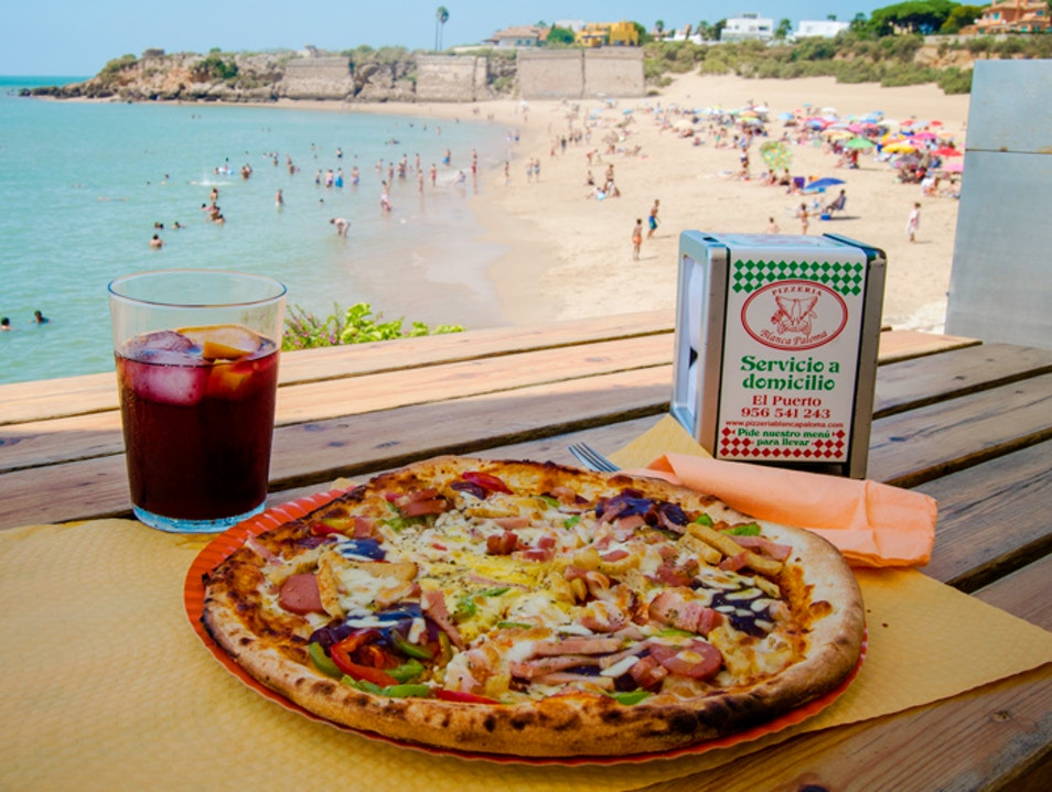 Italian food in Spain with an incredible view El Puerto de Santa María  Spain