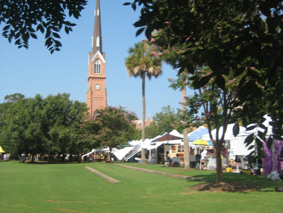 People Watching and Produce at the Charleston Farmers' Market