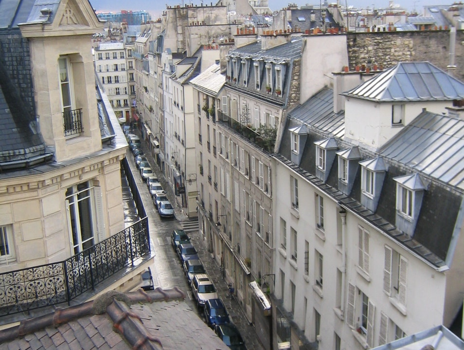 view from our 6th floor apartment Paris  France