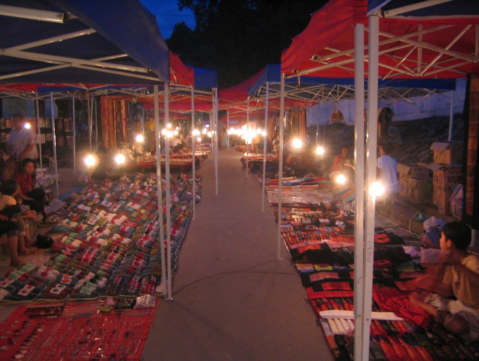 Night Market in Luang Prabang Luang Prabang  Laos