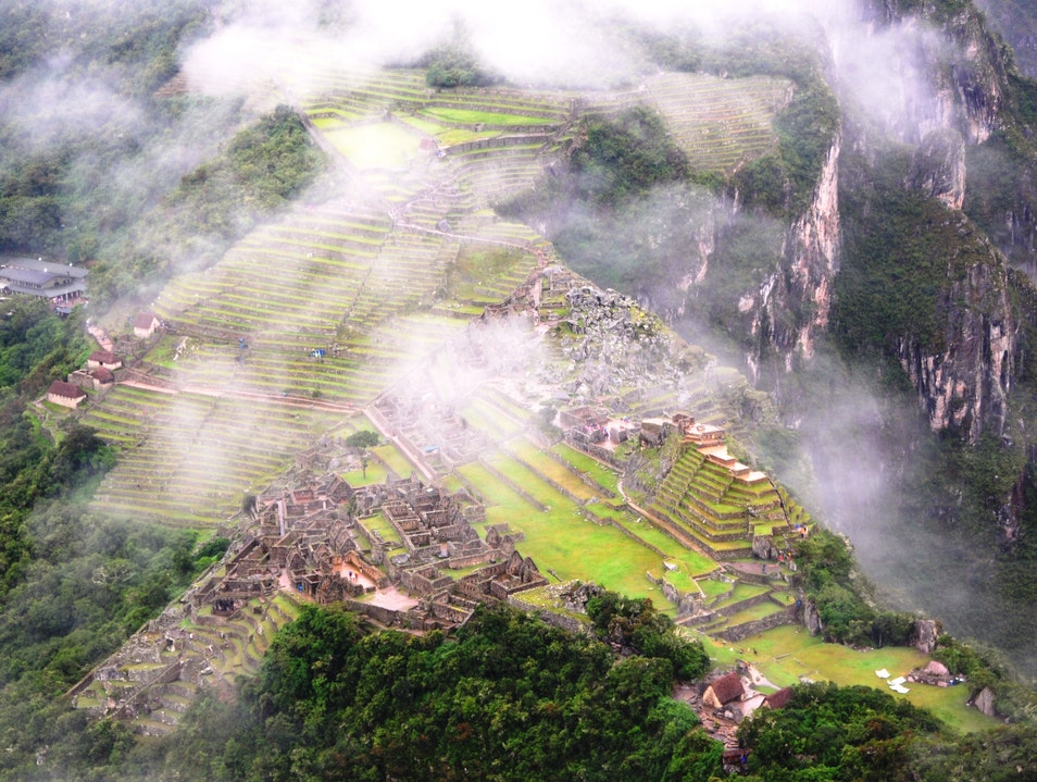 Bird's-Eye View of Machu Picchu Santuario Historico Machu Picchu  Peru