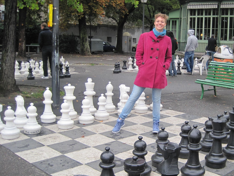 Chess or Photo Op? Geneva  Switzerland