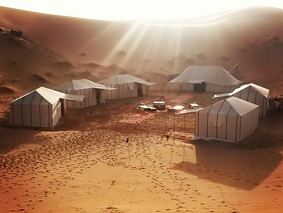 Glamping in the Sahara Mtis  Morocco