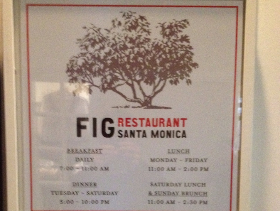 Fig Restaurant at The Fairmont Miramar Santa Monica California United States