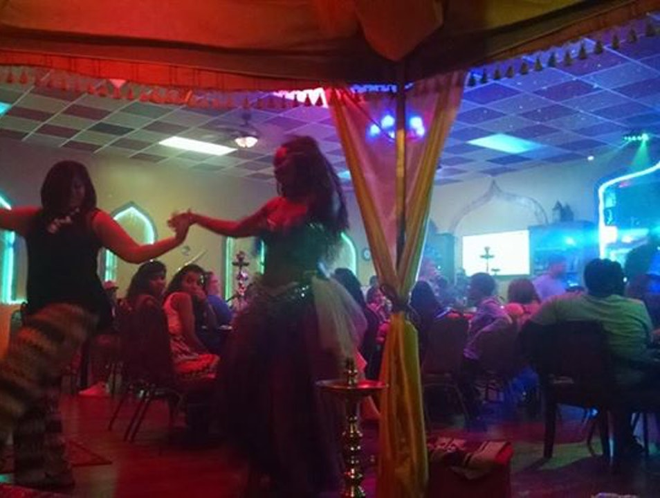 Belly Dancing in Double Apple Flavored Smoke Jacksonville Florida United States