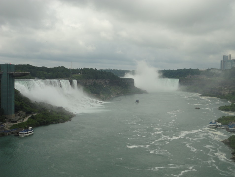 just in awe of the massive falls