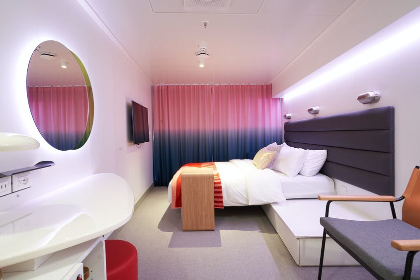 """While sleek in design, the majority of cabins are """"cruise-ship small."""""""