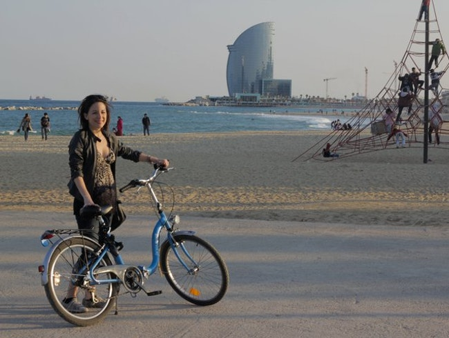 La Barceloneta on Bicycle