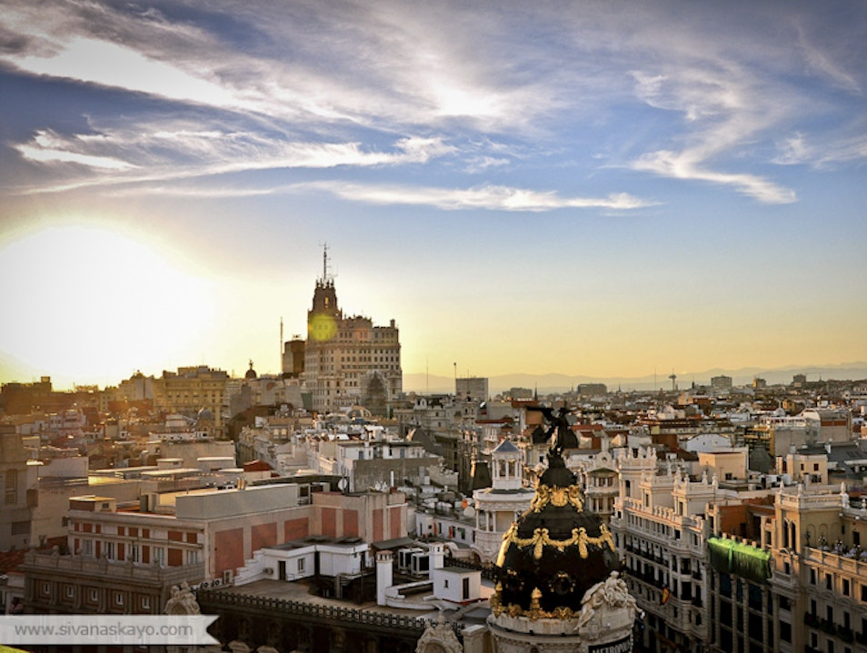 Circulo de Bellas Artes—Overlooking Madrid  Madrid  Spain