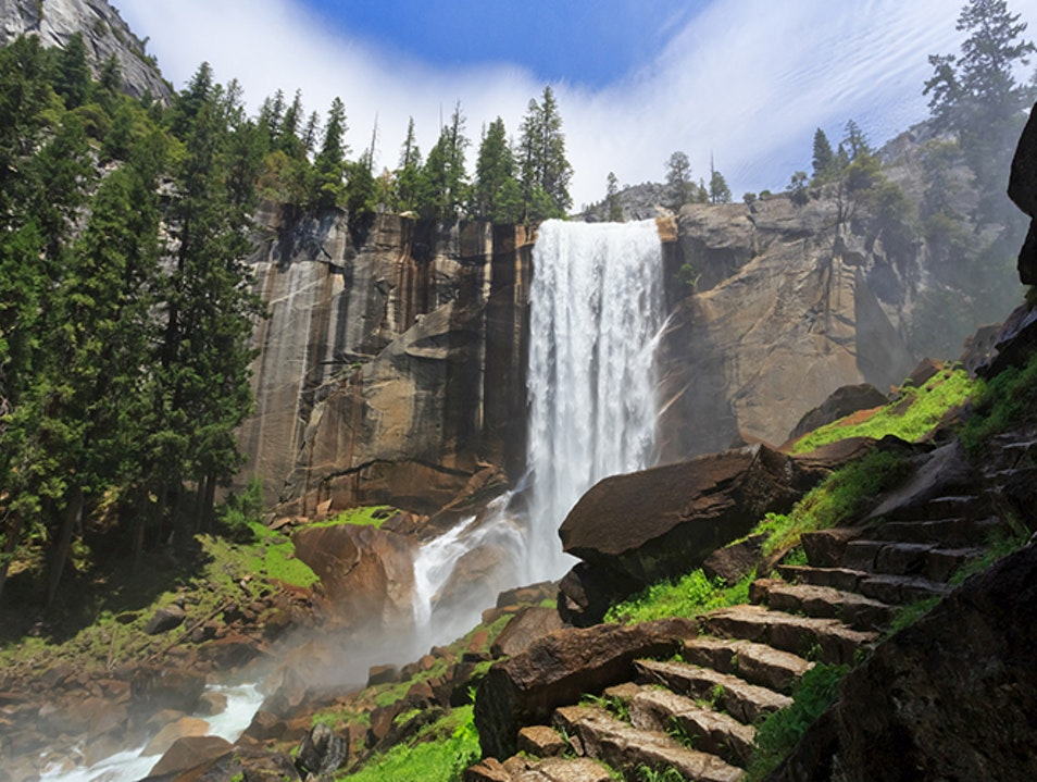 Mist Trail Yosemite Valley California United States
