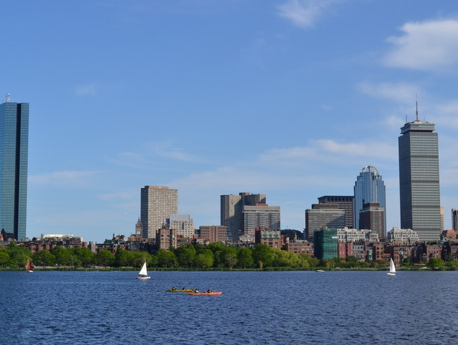 Boating on the Charles River.
