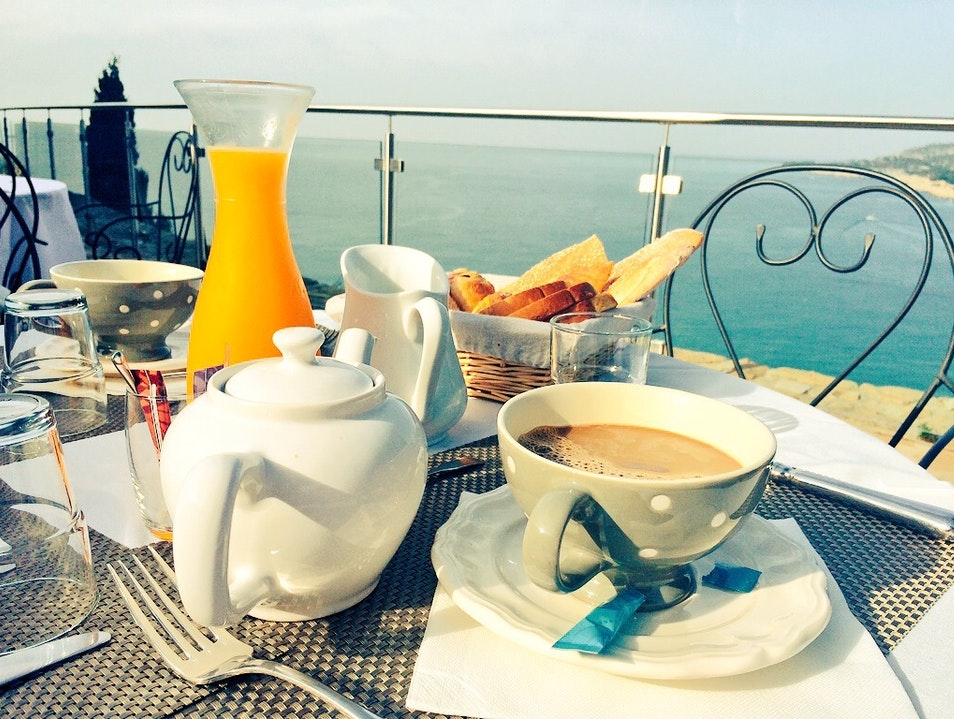 Breakfast overlooking the sea Cassis  France
