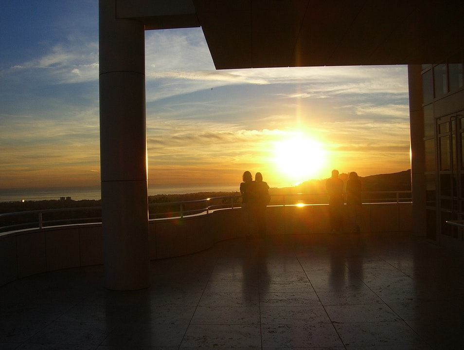 Watch the Sunset at the Getty Los Angeles California United States
