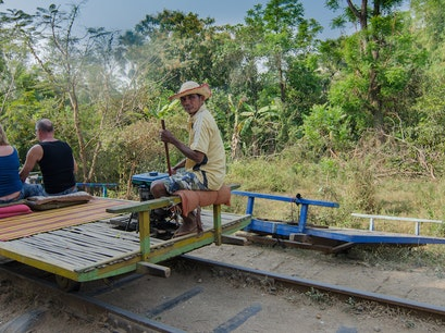 Bamboo Train Battambang Sangkae  Cambodia
